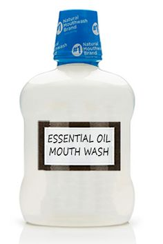 5 DIY ESSENTIAL OIL MOUTH WASH. I am totally going to make this with OnGuard!