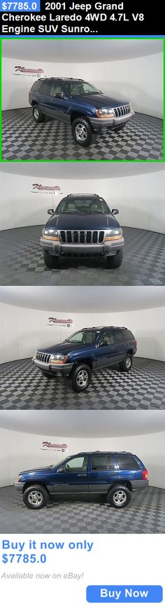 SUVs: 2001 Jeep Grand Cherokee Laredo 4Wd 4.7L V8 Engine Suv Sunroof Leather Easy Financing! 152254 Miles Used Blue 2001 Jeep Grand Cherokee Towing Package BUY IT NOW ONLY: $7785.0