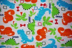 Dinosaur Receiving Blanket