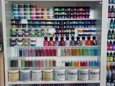 store display, nail polish, storage shelves, craft supplies, foam core, organizing crafts, art muse, craft room, storage units