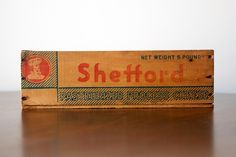 Large Vintage Cheese Box - Want these