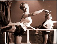 Marilyn Monroe, dance class, February 1949