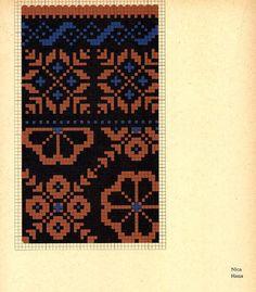FolkCostume&Embroidery: Knitted Mittens of Nica, Kurzeme province, Latvia