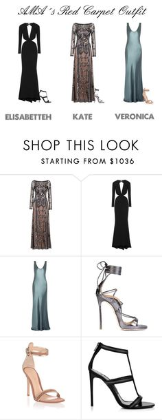"""""""AMA´s Red Carpet Outfit"""" by ghappyg on Polyvore featuring Temperley London, Cushnie Et Ochs, Galvan, Dsquared2 and Gianvito Rossi"""