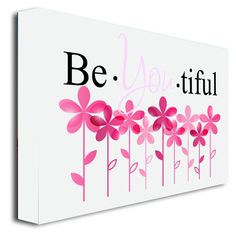 Framed canvas print #2 Be You tiful (22''width x 16'' Height) cute wall art print wall sayings quotes