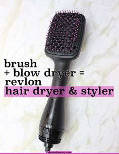 For those who hate blow-drying their hair: try the Revlon Hair Dryer and Styler which combines a paddle brush and blow dryer for fast styling! Click through for a full review and demo | Slashed Beauty