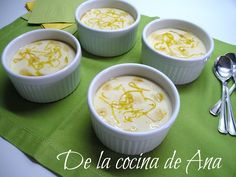 Cremoso de Limón Flan, Cheeseburger Chowder, Soup, Sauces, Sweets, Recipes, Cooking, Pudding, Creme Brulee