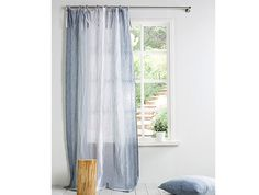 Linen Curtain-Curtains-Linen Curtain with ties by LinenHomeDecor