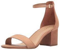 Aldo Women's Villarosa Heeled Sandal, Cognac, 8.5 B US