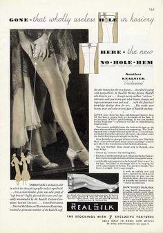 Real Silk stockings vintage hosiery ad c1931