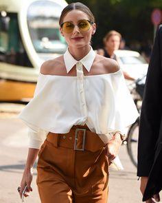 La posibilidad de generar cortes en las prendas de vestir, en donde la silueta y la piel se convierten en parte de esta y dan la posibilidad de jugar con con el cuerpo y la prenda como si fueran una sola.  @oliviapalermo • Milan Fashion Week