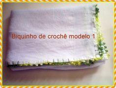 Bico Simples de crochê Fraldas modelo 1