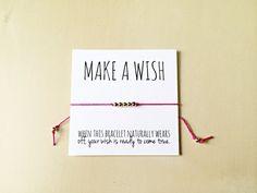 Wish Bracelet Make a Wish Bracelet Friendship by VerseShop on Etsy