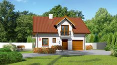 DOM.PL™ - Projekt domu Dom przy Alabastrowej 23 CE - DOM EB4-35 - gotowy koszt budowy Home Fashion, House Design, Cabin, Mansions, House Styles, Outdoor Decor, Projects, Home Decor, Houses