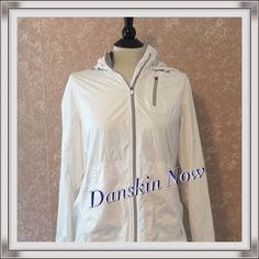 "Selling this ""Danskin Now White Hoodie Jacket Lightweight  M"" in my Poshmark closet! My username is: moomettes. #shopmycloset #poshmark #fashion #shopping #style #forsale #Danskin #Jackets & Blazers"