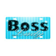 Baby Blue Boss Lady Bling!  License Plate $12.99 from #saytoons