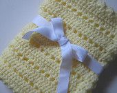 Yellow baby blanket crochet