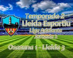 Liga Adelante (Jornada 2): Osasuna 1 - Lleida 3