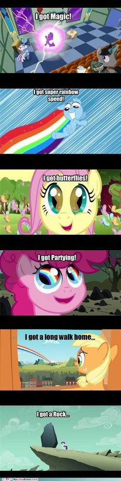 I don't really like MLP. And this earned a laugh from me. My Little Pony Comic, My Little Pony Pictures, Mlp My Little Pony, My Little Pony Friendship, Mlp Comics, Funny Comics, Filles Equestria, Mlp Memes, Funny Memes