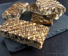 Knasende sprøde müslibarer med chokolade…