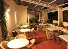 Our terrace at night