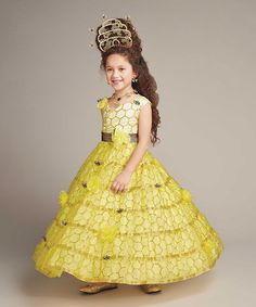Another great find on #zulily! Yellow Queen Bee Dress - Girls #zulilyfinds