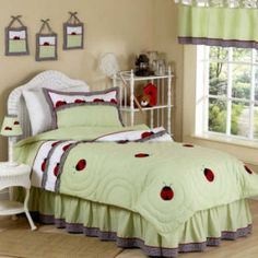 """ladybug parade"" is the name of this bedding!!! this is the set ive finally found exactly what i want!!! simple something she can grow into =)"