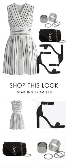 """Sin título #12718"" by vany-alvarado ❤ liked on Polyvore featuring Chicwish, Yves Saint Laurent and Pieces"