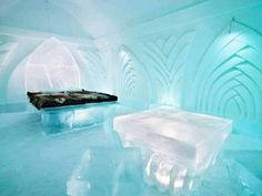 Located in northern Sweden in a small village called Jukkasjärvi about 200 kilometers north of the Arctic Circle, the Ice Hotel is the epitome of ephemeral and temporal architecture. The world's first and largest hotel built out of snow and ice Unique Hotels, Top Hotels, Best Hotels, Amazing Hotels, Luxury Hotels, Snow And Ice, Fire And Ice, Hotel Europa, Ice Hotel Sweden