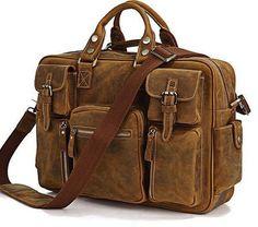 Brown Leather Briefcase #Handmade #BriefcaseAttache
