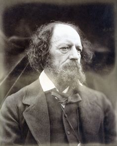 Alfred Lord Tennyson, photographed by Julia Margaret Cameron on June 3, 1870.