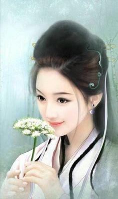 Ảnh đẹp - nữ cổ trang - Wattpad Chinese Painting, Chinese Art, Art Beauté, Art Chinois, Art Asiatique, Art Japonais, Painting Of Girl, Girl Paintings, Ancient Beauty