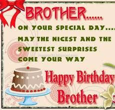 Happy Birthday Wishes For Brother On Your Special Day May The Nicest Surprises Come You Way