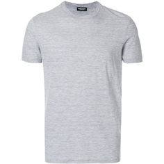 Dsquared2 classic T-shirt (10.315 RUB) ❤ liked on Polyvore featuring men's fashion, men's clothing, men's shirts, men's t-shirts, grey, mens short sleeve shirts, mens short sleeve t shirts, mens grey t shirt, mens short sleeve straight hem shirts and mens gray dress shirt