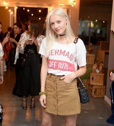 @jessicabronitzki curtiu a festa animadíssima da @cachaserafina com a gente e investiu na T-shirt #Lebôh para compor o look. Ficamos in love! #TôDeLebôh