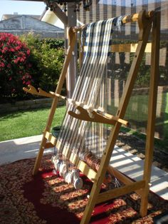 Star Crossed Designs loom, love the double notched heddle brackets.