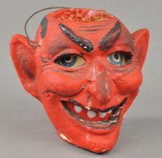 GERMAN DEVIL HEAD LANTERN : Lot 2127