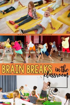 Need some fun brain breaks for the elementary classroom? These brain break ideas and activities for kids are great ways to expend energy and then get focused back on learning. Click the pin to see all the ideas! What Is Brain, Fun Brain, Physical Activities, Learning Activities, Activities For Kids, Autism Classroom, Special Education Classroom, Classroom Layout, Classroom Ideas