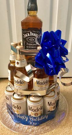 65 Ideas Cake Ideas For Men Alcohol Alcohol Birthday Cake, Beer Birthday Party, Alcohol Cake, Adult Birthday Cakes, Alcohol Gifts, 21st Birthday Gifts, 21st Party, Beer Bottle Cake, Liquor Gift Baskets