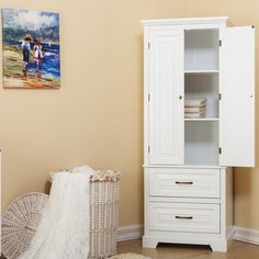 """Alcott Hill Prater 24"""" x 62"""" Free Standing Cabinet"""
