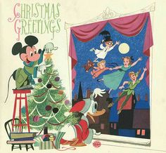 Vintage Disney Christmas cards