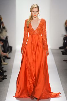 ZsaZsa Bellagio – Like No Other: Inspiration Autumn - not everyone can wear orange like this. It is perfect with her complexion.