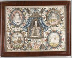 Framed picture Date: third quarter 17th century Culture: British Medium: Silk, metal, beads Dimensions: H. 12 3/4 x W. 17 1/2 inches (31.1 x 43.2 cm) Framed: H. 16 1/4 x W. 21 x D. 1 1/4 inches (43.2 x 53.3 x 3.2 cm) Classification: Textiles-Embroidered MET Museum
