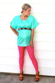 Maternity leggings and shirt