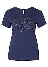 Round Neck Heart Detailed T-Shirt £12