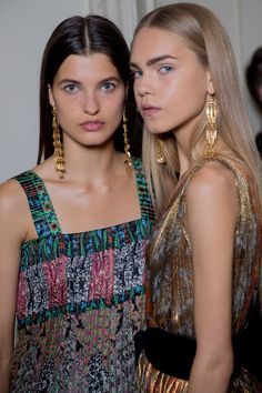 Backstage at Oscar de la Renta