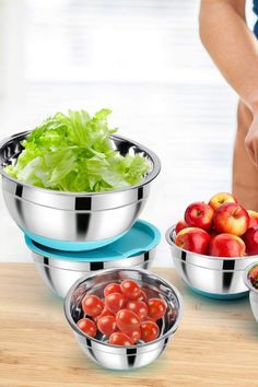LARGER BOWL SIZES: 5 different sizes with unique and graceful BLUE of 5, 3, 2 ,1.5, 0.75QT will complement your cooking and make cooking much easier. And it gives you much more flexibility and less mess. #ad #bakeware Cooking Tips, Cooking Recipes, Healthy Recipes, Breakfast Recipes, Dinner Recipes, Good Food, Yummy Food, Winter Desserts, Baking Supplies