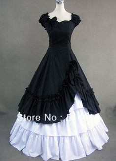 Tomsuit Black and White Puff Sleeves Gothic Victorian Prom Dresses Southern Belle Ball Gown Corset Lolita Costume-in Costumes & Accessories from Apparel & Accessories on Aliexpress.com | Alibaba Group