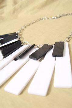 piano keys necklace                                                                                                                                                      More