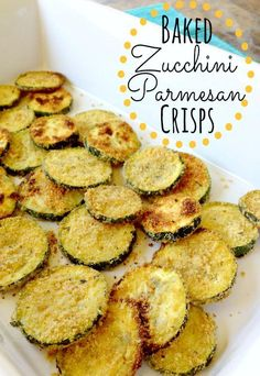 Baked Zucchini Parmesan Crisps - Love with recipe